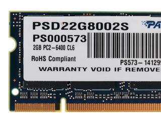 Оперативная память SODIMM Patriot Signature [PSD22G8002S] 2 ГБ