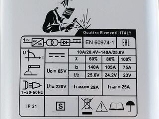 Сварочный аппарат Quattro Elementi A 140 Pico + Маска LAMBDA
