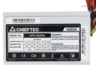 Блок питания Chieftec 400W [HPS-400NS]