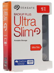 "2.5"" Внешний HDD Seagate 1TB Backup Plus Ultra Slim [STEH1000200]"