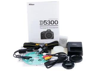 Зеркальная камера Nikon D5300 Kit 18-55mm VR II  + 55-200 VR II черный