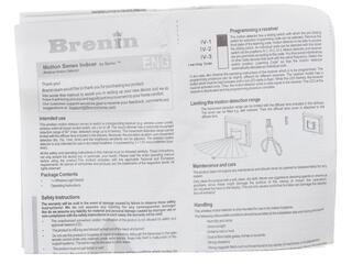 Датчик движения Brenin MS-01W Motion Sense белый