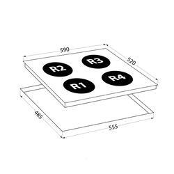 Электрическая варочная поверхность LEX EVH 640 BL