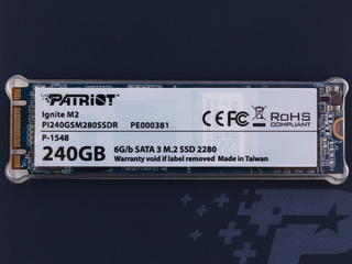 240 ГБ SSD M.2 накопитель Patriot M2 Ignite [PI240GSM280SSDR]