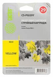 Картридж струйный Cactus CS-PGI29Y