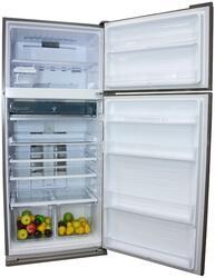 Холодильник с морозильником Sharp SJ-XE55PMSL серебристый