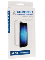Накладка + защитное стекло  DF для смартфона Apple iPhone 6/6S