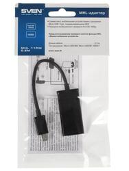 Кабель SVEN MHL 11 pin 0.2m micro USB - HDMI черный