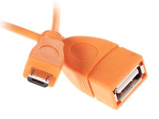 Кабель OTG Solomon micro USB - USB оранжевый