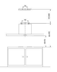 Вытяжка подвесная Avex TS 9060 X серебристый