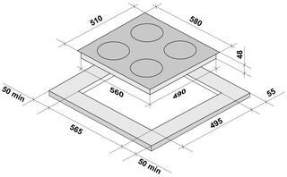 Электрическая варочная поверхность Fornelli PV 60 MIRAGGIO