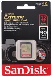 Карта памяти SanDisk EXTREME SDHC 32 Гб