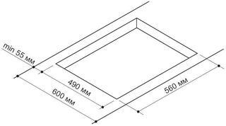 Газовая варочная поверхность Pyramida PFG 647 SAND LUXE