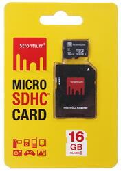 Карта памяти STRONTIUM microSDHC 16 Гб