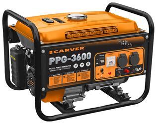 Бензиновый электрогенератор Carver PPG- 3600