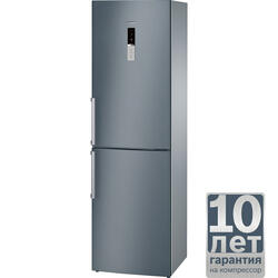 Холодильник с морозильником BOSCH KGN39XC15R серый