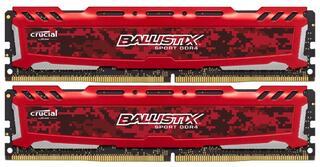 Оперативная память Crucial Ballistix Sport LT Red [BLS2K16G4D240FSE] 32 ГБ