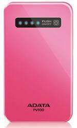 Портативный аккумулятор ADATA Power Bank PV100 розовый