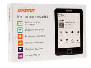 6'' Электронная книга Digma R660 черный