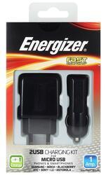Сетевое + автомобильное зарядное устройство Energizer 32UEUCMC2