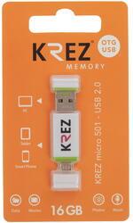 Память OTG USB Flash KREZ  16 ГБ