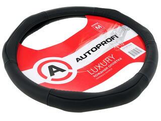 Оплетка на руль AUTOPROFI LUXURY AP-1020 черный