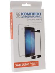Накладка + защитное стекло  DF для смартфона Samsung Galaxy A3 (2016)