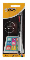 Стилус-ручка BiC 4 - colors серебристый, черный