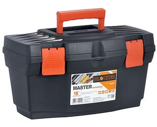 """Ящик для инструментов Blocker Master Economy 16"""" черный/оранжевый"""