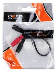 Переходник DEXP 3.5 mm jack - 3.5 mm jack x2