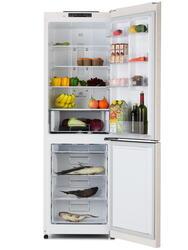 Холодильник с морозильником LG GA-B409SECL бежевый
