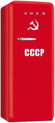 Холодильник с морозильником Премиум Smeg FAB28CCCP красный