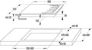 Газовая варочная поверхность Gorenje GW 65C LI