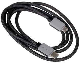 Кабель MobilStyle USB-C - micro USB черный