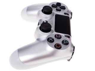 Геймпад Dualshock 4 серебристый