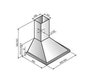 Вытяжка каминная Elikor Оптима 60П-400-К3Л белый