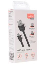 Кабель Nobby Comfort USB - micro USB черный