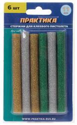 Стержни клеевые ПРАКТИКА 649-356 желтый, зеленый, серый