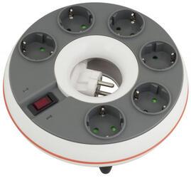 Сетевой фильтр Ippon BD-211 белый, серый