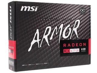 Видеокарта MSI AMD Radeon RX 470 ARMOR OC [RX 470 ARMOR 8G OC]