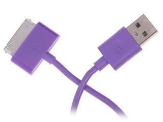 Кабель InterStep USB - 30-pin фиолетовый