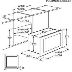 Встраиваемая микроволновая печь Electrolux EMS17006OX черный