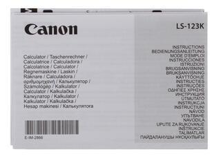 Калькулятор бухгалтерский CANON LS-123K-MOR