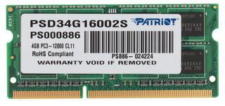 Оперативная память SODIMM Patriot [PSD34G16002S] 4 ГБ