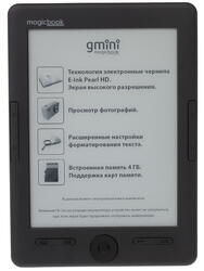 6'' Электронная книга gmini MagicBook S6HD черный + чехол