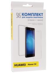 Накладка + защитное стекло  DF для смартфона Huawei Honor 5C