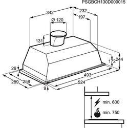 Вытяжка полновстраиваемая Electrolux EFG50250W белый