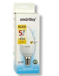 Лампа светодиодная Smartbuy C37 SBL-C37-05-30K-E14