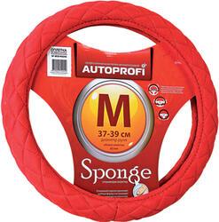 Оплетка на руль AUTOPROFI SP-9020 красный