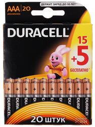 Батарейка Duracell Basic LR03-20BL